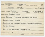 Alien Registration Card- Hirschel, Siegfried (Norway, Oxford County)