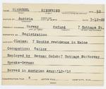 Alien Registration Card- Hirschel, Siegfried (Norway, Oxford County)