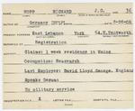 Alien Registration Card- Hopp, Richard J. G. (Lebanon, York County)