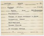 Alien Registration Card- Jaatinen, Albain (Warren, Knox County)