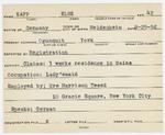 Alien Registration Card- Kopp, Else (Wells, York County)