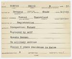 Alien Registration Card- Koenig, Heinz B. (Pownal, Cumberland County) by Heinz B. Koenig