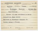 Alien Registration Card- Koestenbaum, Elizabeth (Skowhegan, Somerset County) by Elizabeth Koestenbaum