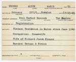 Alien RegistrationSpecial Card- Kroner, Alice M. (Mount Desert, Hancock County) by Alice M. Kroner