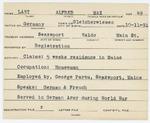Alien Registration Card- Lant, Alfred M. (Searsport, Waldo County) by Alfred M. Lant