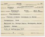 Alien Registration Card- Lant, Isabel (Searsport, Waldo County)