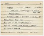Alien Registration Card- Levy, Sol (Lewiston, Androscoggin County)