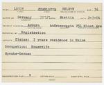Alien Registration Card- Lowit, Charlotte H. (Auburn, Androscoggin County) by Charlotte H. Lowit
