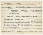 Alien Registration Card- Marienburg, Josef (Skowhegan, Somerset County)