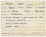 Alien Registration Card- Oestrich, Babette (Mexico, Oxford County) by Babette Oestrich