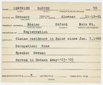 Alien Registration Card- Oestrich, Baverck (Mexico, Oxford County)