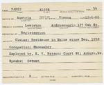 Alien Registration Card- Papanek-Papen, Leo (Lewiston, Androscoggin County) by Leo Papanek-Papen
