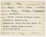 Alien Registration Card- Pollak, Henry (Bangor, Penobscot County)