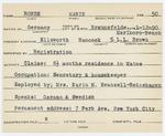 Alien Registration Card- Rohde, Marie (Ellsworth, Hancock County)