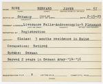 Alien Registration Card- Rowe, Bernard J. (Livermore Falls, Androscoggin County)