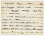 Alien Registration Card- Schoenberg, Isaac J. (Waterville, Kennebec County)