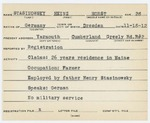 Alien Registration Card- Stasinowsky, Heinz H. (Yarmouth, Cumberland County)