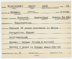 Alien Registration Card- Stasinowsky, Henry P. (Yarmouth, Cumberland County)