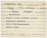 Alien Registration Card- Taubenberger, Lina (Addison, Washington County)