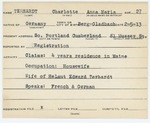 Alien Registration Card- Terhardt, Charlotte Anna Maria (South Portland, Cumberland County)