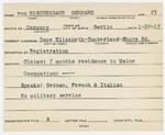Alien Registration Card- Von Koschembahr, Gerhard (Cape Elizabeth, Cumberland County)