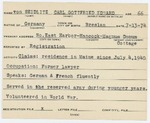 Alien Registration Card- von Seidlitz, Carl Gottfried Eduard (Mount Desert, Hancock County)