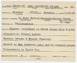 Alien Registration Card- von Seidlitz, Carl Gottfried Eduard (Mount Desert, Hancock County) by Carl Gottfried Eduard von Seidlitz