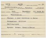 Alien Registration Card- Wayne, Alice (Bath, Sagadahoc County) by Alice Wayne