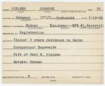 Alien Registration Card- Nielsen,Johanne (Sidney, Kennebec County)