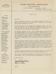 Letter from James M. Jackson, Executive Sec., Me. Municipal Assoc., June 24, 1940