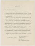 To: The Municipal Officers by Adjutant General and Clyde W. Metcalf