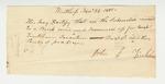 Pea Bean Certificate for Joseph Tinkham