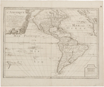 BMC 13--L'Amerique, ou, Le nouveau continent : dresseè sur les memoires les plus nouveaux et sur les relations les plus recentes, rectifiez sur les dernieres observàtions.  1742