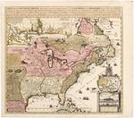 BMC 20--Carte De La Nouvelle France des Grandes Rivieres de S. Laurens and de Mississippi, ca. 1719