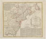 BMC 24--America Septentrionalis a Domini d'Anville in Galliis edita nunc in Anglia. Coloniis in interiorem Virginiam deductis nec non Fluvii Ohio aucta cursu notisque geographicis et historicis illustrata. [circa 1756].