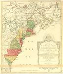 BMC 36--Carte nouvelle de l'Amérique angloise contenant tout ce que les Anglois possédent sur le continent de l'Amérique septentrionale savoir le Canada, la Nouvelle Ecosse ou Acadie, les treize provinces unies qui font: les quatres colonies de la Nouvelle Angleterre ...  1776