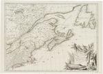 BMC 70--Partie orientale du Canada, avec la Nouvelle Angleterre, l'Acadie, et la Terre-Neuve  par le S. D'Anville, 1776