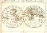 BMC 72--Mappe-Monde, ou Carte Generale Du Monde; Dessignee en deux plan-Hemispheres par le Sr. Sanson d'Abbeville, Geographe Ordinaire de la Majeste, 1651