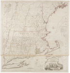 BMC 84--A map of the most inhabited part of New England : containing the provinces of Massachusets Bay and New Hampshire, with the colonies of Conecticut and Rhode Island, divided into counties and townships : the whole composed from actual surveys and its situation adjusted by astronomical observations, 1774