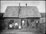 Monson, Rural Family circa 1900 Glass plate 26