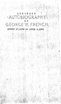 Abridged Autobiography of George W. French by George W. French