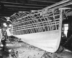 """Partially Planked Hull Of A Boat Under Construction """"Photo By W. H. Ballard"""" by W. H. Ballard"""