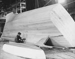 "Hull Of A Boat Laid Over For Caulking ""Photo By W. H. Ballard"" by W. H. Ballard"