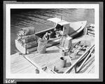 "Lobsterman Loading Traps Onto His Boat ""Photo By W. H. Ballard"" by W. H. Ballard"