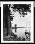 Two Small Sailboats On Damariscotta Lake In Jefferson by George W. French