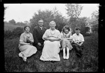 """Group Photo Of George French, His Wife And Two Children And His Mother """"- Group At Home"""" by George French"""