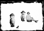 """George French's Daughter Photographed Same Size As A Kewpie Doll """"Barb & Oh Boy"""" by George French"""