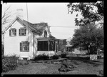 """Home, With A 48 Star Flag Flying, And Barn Under Construction """"- House Corner Of Day And East Pass."""" by George French"""