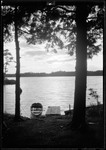 Boat, Dock And Kezar Lake At Sunset by George French