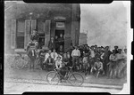 A Print Showing An Early Bicycle Shop by George French